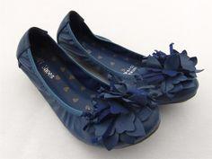 FLUER BLUE LEATHER BALLET FLAT