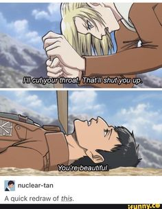 Attack on Titan and Princess Mononoke. Bertolt Hoover x Annie Leonhardt. I love this ship.
