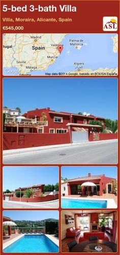 5-bed 3-bath Villa in Villa, Moraira, Alicante, Spain ►€545,000 #PropertyForSaleInSpain