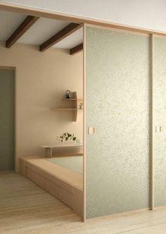 商品と価格 | 福岡市にある和室リフォーム専門店 畳や襖の張替えとご一緒に壁紙の張替えもいかがでしょうか? 和室をリフォームする際に畳、襖、障子だけでなく全体的なリフォームをしてみませんか? Modern Japanese Interior, Japanese Home Decor, Japanese Modern, Asian Home Decor, Japanese House, Japanese Style, House Paint Interior, Interior Design, Washitsu