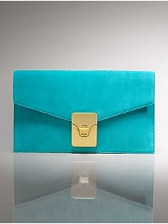 Love this suede clutch from Talbots.