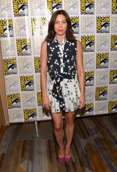 "Actress Michaela Conlin attends Comic-Con International 2016 ""Bones"" press line at Hilton Bayfront on July 22, 2016 in San Diego, California."