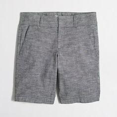 """<ul><li>Cotton with a hint of stretch.</li><li>Sits at waist.</li><li>10"""" inseam.</li><li>Zip fly.</li><li>Slant pockets, back welt pockets.</li><li>Machine wash.</li><li>Import.</li></ul>"""