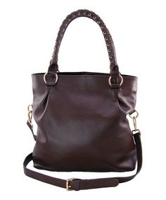 Look at this Maxine Couture Brown Bella Vita Crossbody Bag by Maxine Couture 1bbe27d88bbfe