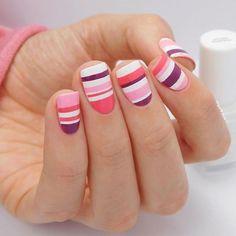 Nail Trends That Keep You Uniquely Fashionable Wow Nails, Cute Nails, Pretty Nails, Nail Art Stripes, Striped Nails, Pink Stripes, Beautiful Nail Designs, Beautiful Nail Art, Spring Nail Art