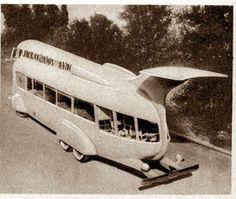 Drive Movie Bus from Crow's Nest (Modern Mechanix , June, 1935)