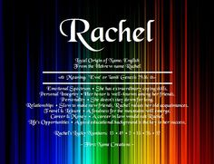 Rachel Name Meaning - First Name Creations Rachel Name Meaning, Names With Meaning, Personal Integrity, Hebrew Names, Cancer Horoscope, Name Tattoos, Inspiring Things, First Names, Names