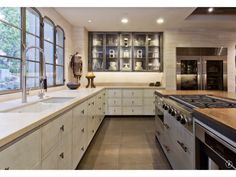 Contemporary Kitchen - Lower level of Vineyard home idea for chef's kitchen