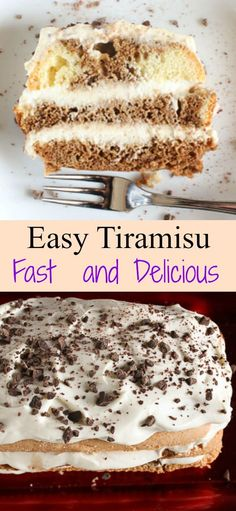 An Easy Tiramisu Recipe, the perfect creamiest filling for any base, lady fingers or cake.  A delicius authentic Italian cake and cream filling recipe/anitalianinmykitchen.com