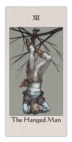 XII. The Hanged Man 吊られた男 - Tactics Ogre Tarot Card
