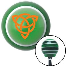 Orange Celtic Design 2 Green Stripe Shift Knob with M16 x 15 Insert - Give your interior the ultimate look. American Shifter's Elite(TM) series shift knobs are made from the highest quality components resulting in a superior feel on every shift. Each shift knob is designed and customized in the USA by skilled shift knob artisans who have a trained eye on every detail. American Shifters shift knobs offers an exclusive aluminum threaded insert designed to be screwed onto your shift arm. You…