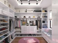 Minimalist Dressing room by Giovani Design Studio