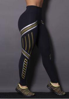 Calça Poliamida com Silk Gold Bands