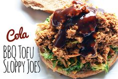 Best of Both Worlds BBQ Tofu Cola Sloppy Joe Sandwich - Vegetarian Snob I am always disappointed by sloppy joes thinking they'll be barbecue flavored, so I've created a vegan bbq sloppy joe using a pinterest favorite cola bbq recipe! This dish is perfect for back to school dinners or summer picnics and gatherings!