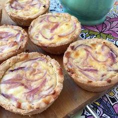 Canastitas de cebolla morada y queso SIN GLUTEN   Con esta misma masa se pueden hacer tartas y quedan buenisimas!