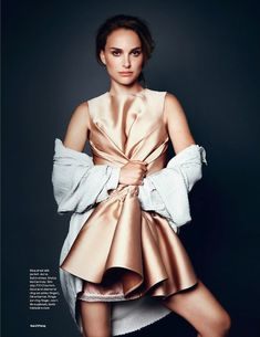 Natalie Portman for ELLE UK wearing Stella McCartney