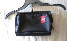Swiss Gear Hanging Travel Toiletry Wash Bag Wenger Cosmetic Makeup Pouch Black #SWISSGEAR