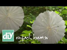 Papierlampions aus Butterbrottüten | DIY einfach kreativ - YouTube