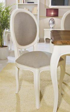 Silla París Vintage Blanco Roto Lacado.