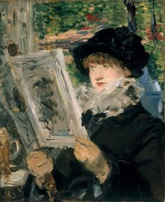Woman Reading  1879-1880  Edouard Manet (French)  Oil on Canvas  Art Institute of Chicago