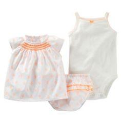 Newborn : Carter's Smocked Top Set - Baby