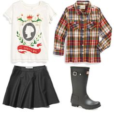 Love this outfit for fall especially the rainboots