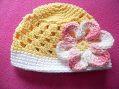 The Crafty Crafter: Capri Crochet Hat Pattern