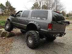 2005 Ford Excursion that has been Lifted, Flared, & Sittin' on Swampers . Cool Trucks, Big Trucks, 2005 Ford Excursion, Future Trucks, Bug Out Vehicle, Ford Super Duty, Truck Camping, Expedition Vehicle, Lifted Trucks