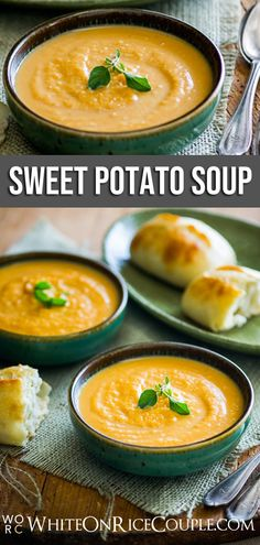 Take a look at our savory Sweet Potato Soup recipe. It's perfect for the Fall season. Hearty Soup Recipes, Best Soup Recipes, Chowder Recipes, Dinner Recipes, Quick Healthy Meals, Healthy Family Meals, Sweet Potato Soup, Sweet Potato Recipes, Curry Stew