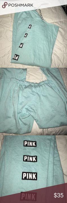 VS PINK BOYFRIEND SWEATPANTS Worn a few times. Wrong size! So soft. So comfortable! Victoria's Secret Pants Track Pants & Joggers