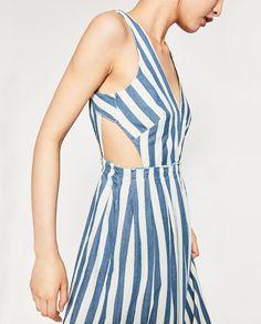 Image 6 of STRIPED DENIM DRESS from Zara