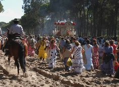 """Perhaps the most spectacular romeria is the one devoted to the Virgen del Rocío, popularly called """"El Rocio"""" for short. © Joaquin Alarcon"""