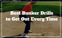 Try out these golf bunker drills to help you hit out of the sand and save par more often. Short game takes a lot of work but makes the most difference to your golf scores!