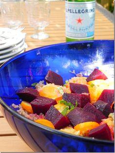 Beet, Orange, Kumquat and Quinoa Salad from @cakeduchess