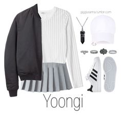 """Inspired Outfit for KCON // Yoongi"" by suga-infires ❤ liked on Polyvore featuring Monki, T By Alexander Wang, adidas, New Look and Bling Jewelry"