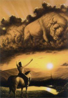 Leanin Tree Spirit of the Buffalo Inspirational Greeting IST19928   Buffalo Trader Online