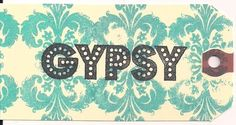 GYPSY word Unmounted Rubber Stamp altered art by vintagebliss, $2.00
