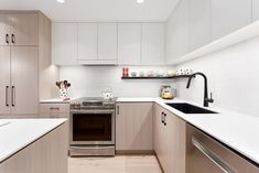 Madeleine Design Group's award-winning kitchen renovation won second place at the KBIS Design Competition, which recognizes outstanding kitchen and bathroom designs. Pictured: East 6th Avenue renovation, Vancouver. *Re-pin to your own inspiration board* Oak Cabinets, Kitchen Cabinets, Contemporary Design, Modern Design, Small Condo, Bright Walls, Banquette Seating, Design Competitions, Large Windows