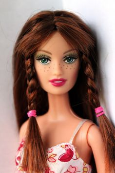 Barbie-Doll-Drew-Fahsion-Fever-Freckles-Redhead-Restyled-Redressed-Rare
