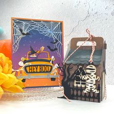 Hero Arts Cards, Crafters Companion Gemini, Spellbinders Cards, Inside The Box, Distress Oxide Ink, Orange And Purple, Tim Holtz, Vintage Photos, Card Stock