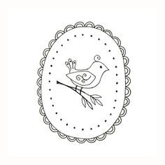 Bird Embroidery Pattern Woodland Animal Digital Downloadable PDF Hand Embroidery 0004