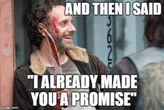 Rick about Gareth's death | The Walking Dead Season 5 funny meme