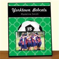 Soccer Personalized Photo Frames make great gifts for soccer players! Add your name, the year, team name, and so much more to create your own custom soccer frame! It's a great soccer gift!