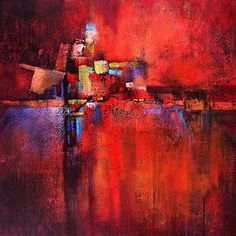 """Passion by Christopher Westfall Acrylic ~ 30"""" x 30"""""""