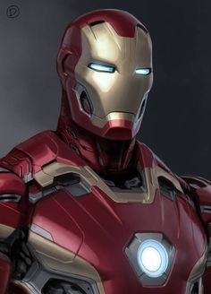 "Concept art of Iron Man from Marvel's ""Avengers: Age of Ultron"" (2015)."