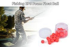 30pcs Outdoor Fishing Circular Float Ball EPS Foam YF-03