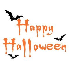 Happy Halloween Bats ❤ liked on Polyvore featuring halloween, words, holidays, backgrounds and quotes