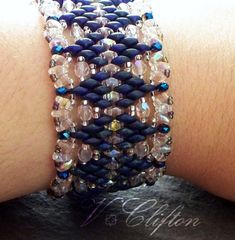 *P Lacy Beaded Bracelet Tutorial Super Duo Bead by VCArtisanOriginals