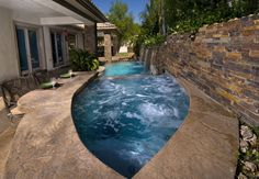 Narrow Pool Designs Narrow Pool Tiny Pools For A Tiny Yard Pinterest Pool  Spa Pools And  Narrow Pool Designs