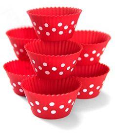 Maubi Creations Polka Dot Silicone Baking Cups, Colourful Silicone Cupcake Molds, Silicone Cupcake Liners ,12 Pack, Baking Cups, Cupcake Molds, Muffin Liners Silicone Cupcake Liners, Thing 1, Bottle Carrier, Baking Cups, Polka Dots, Packing, Muffin Cupcake, Bakeware, Amazon